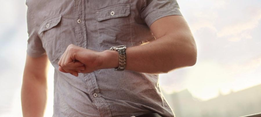 Guy wearing a watch